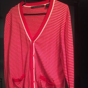 Sean John striped cardigan sweater